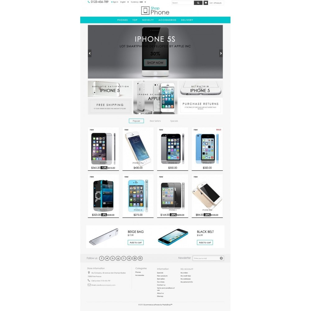 theme - Elektronik & High Tech - Shop Phone 1.6 Responsive - 2