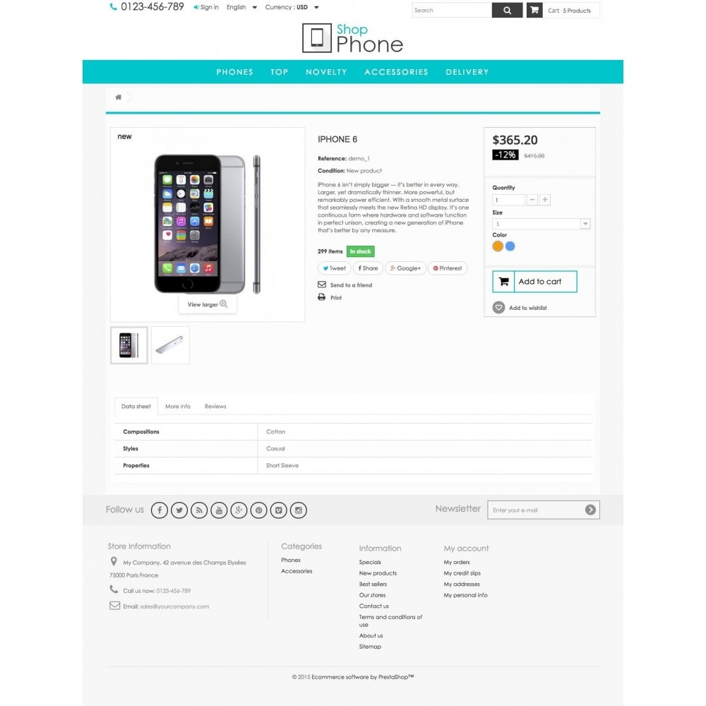 theme - Elektronik & High Tech - Shop Phone 1.6 Responsive - 7