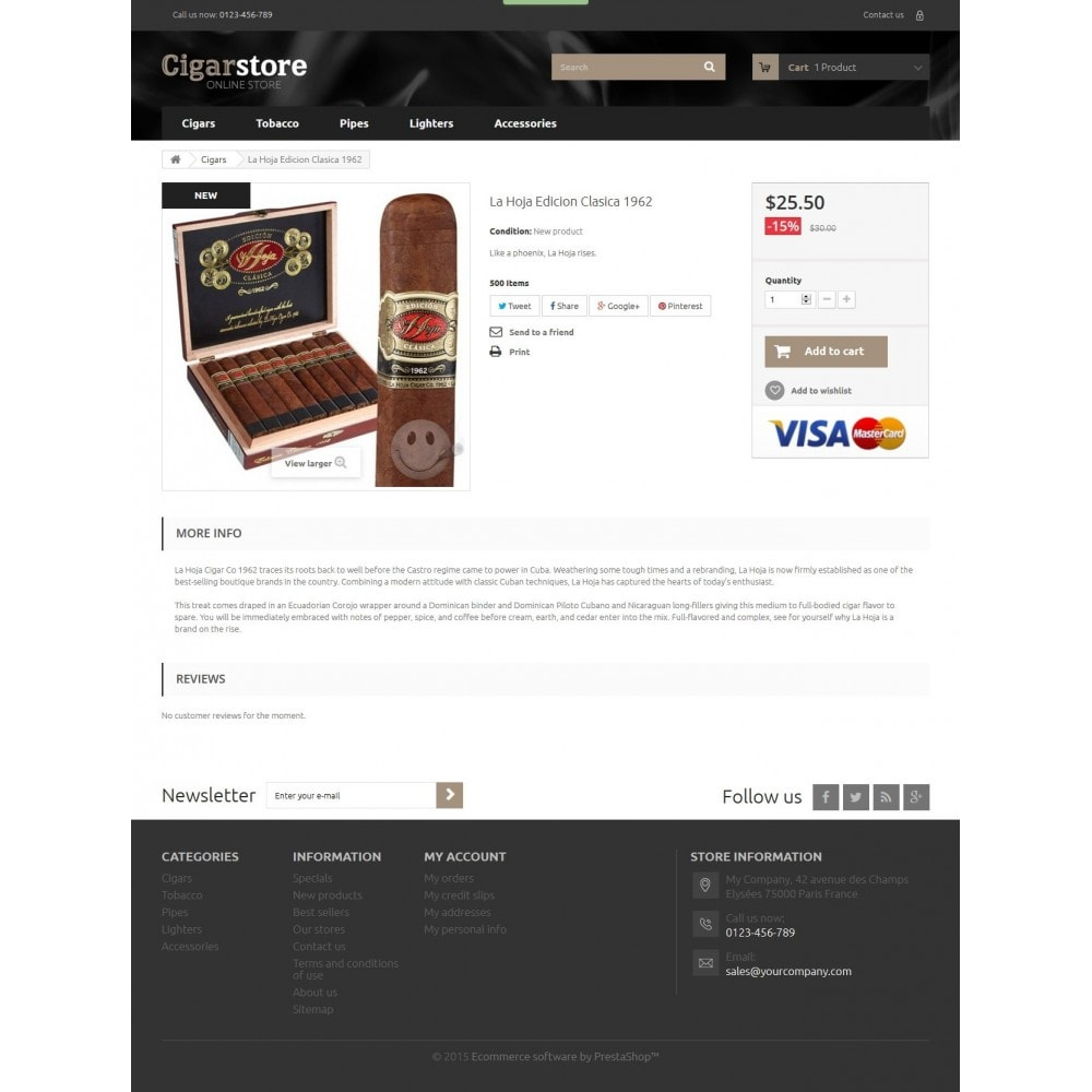 theme - Drink & Wine - Cigar Store 1.6 Responsive - 7