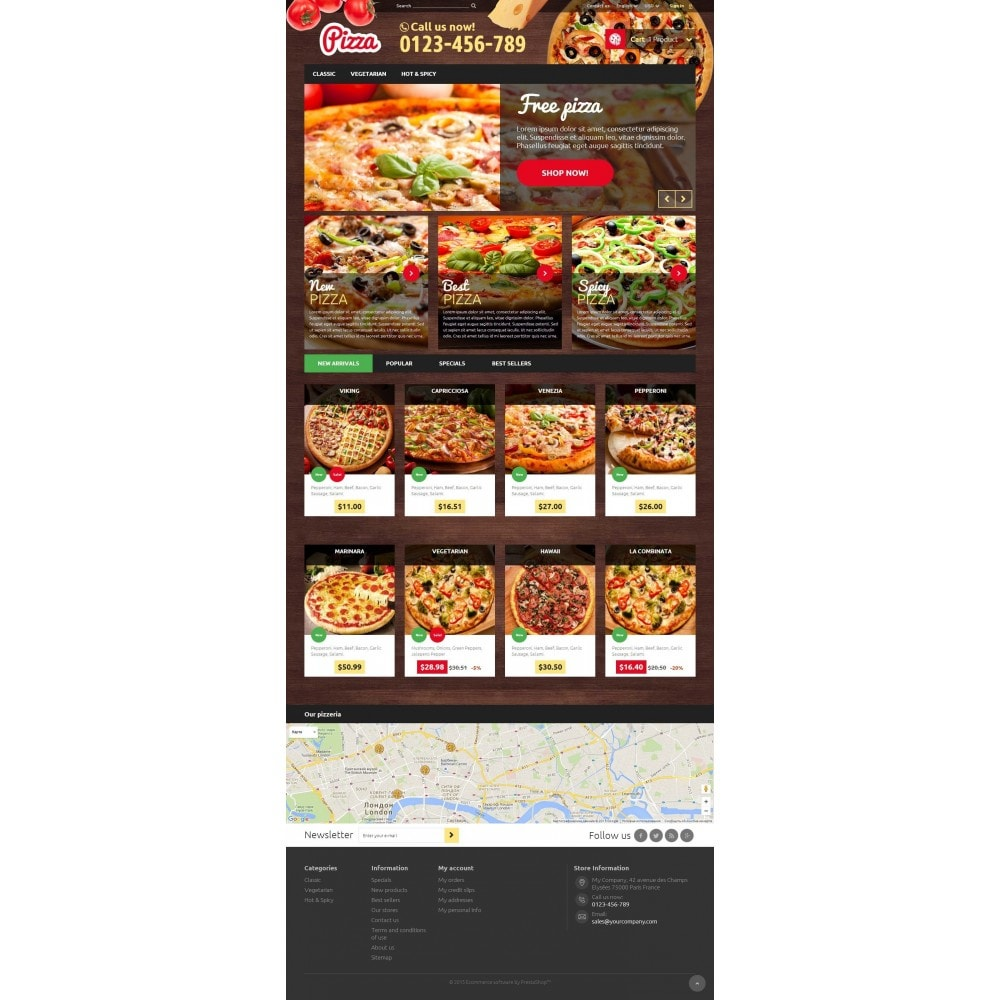 theme - Food & Restaurant - Pizza 1.6 Responsive - 2