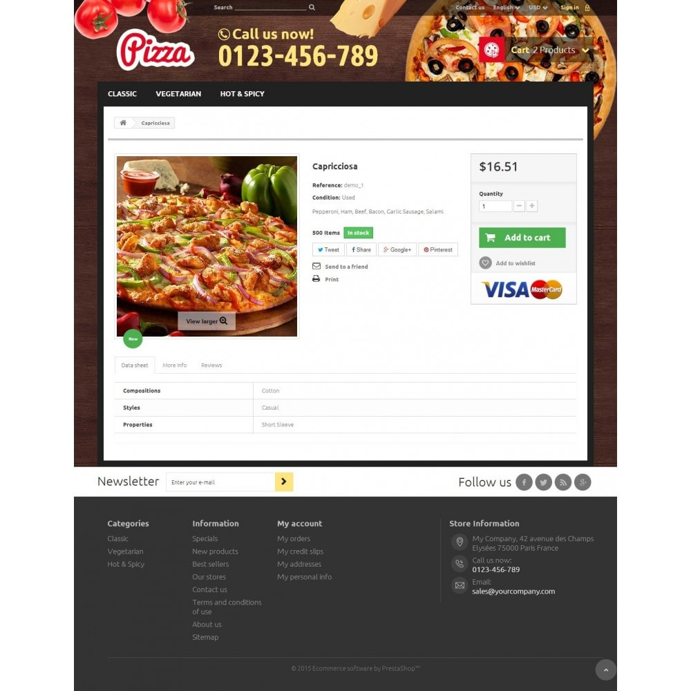 theme - Alimentation & Restauration - Pizza 1.6 Responsive - 7