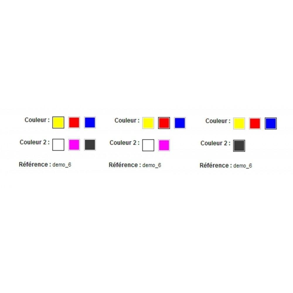 module - Déclinaisons & Personnalisation de produits - Affichage des déclinaisons avancée - Attribut en stock - 2