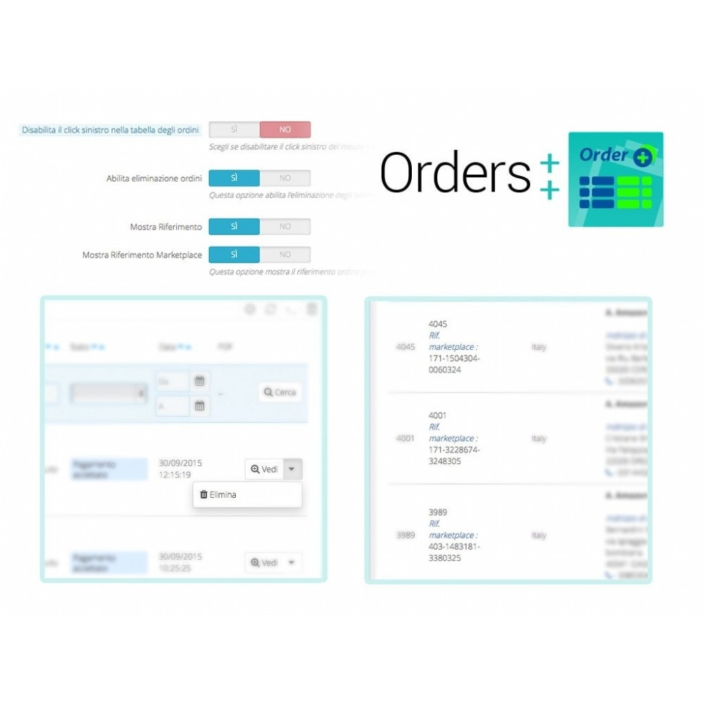 module - Gestione Ordini - Lista ordini avanzata con filtri e funzioni speciali - 7