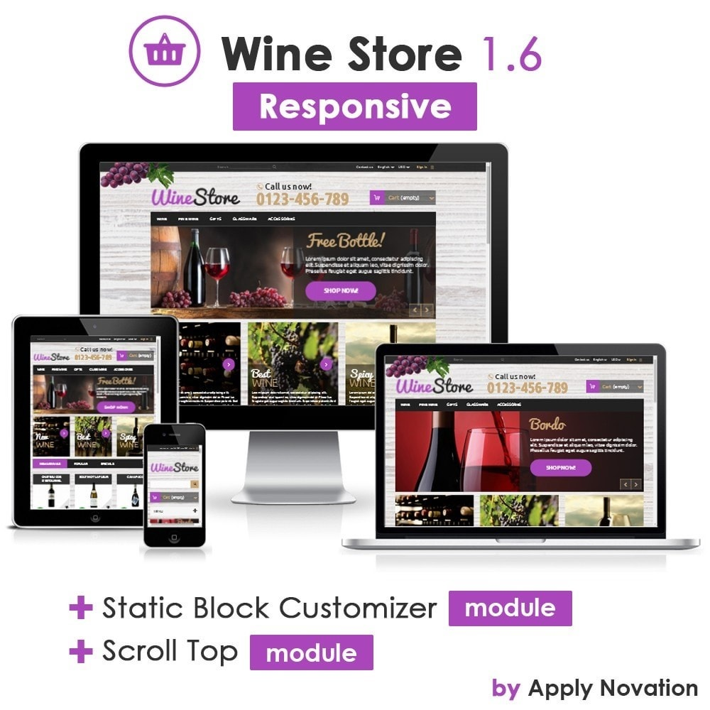 theme - Getränke & Tabak - Wine Store 1.6 Responsive - 1