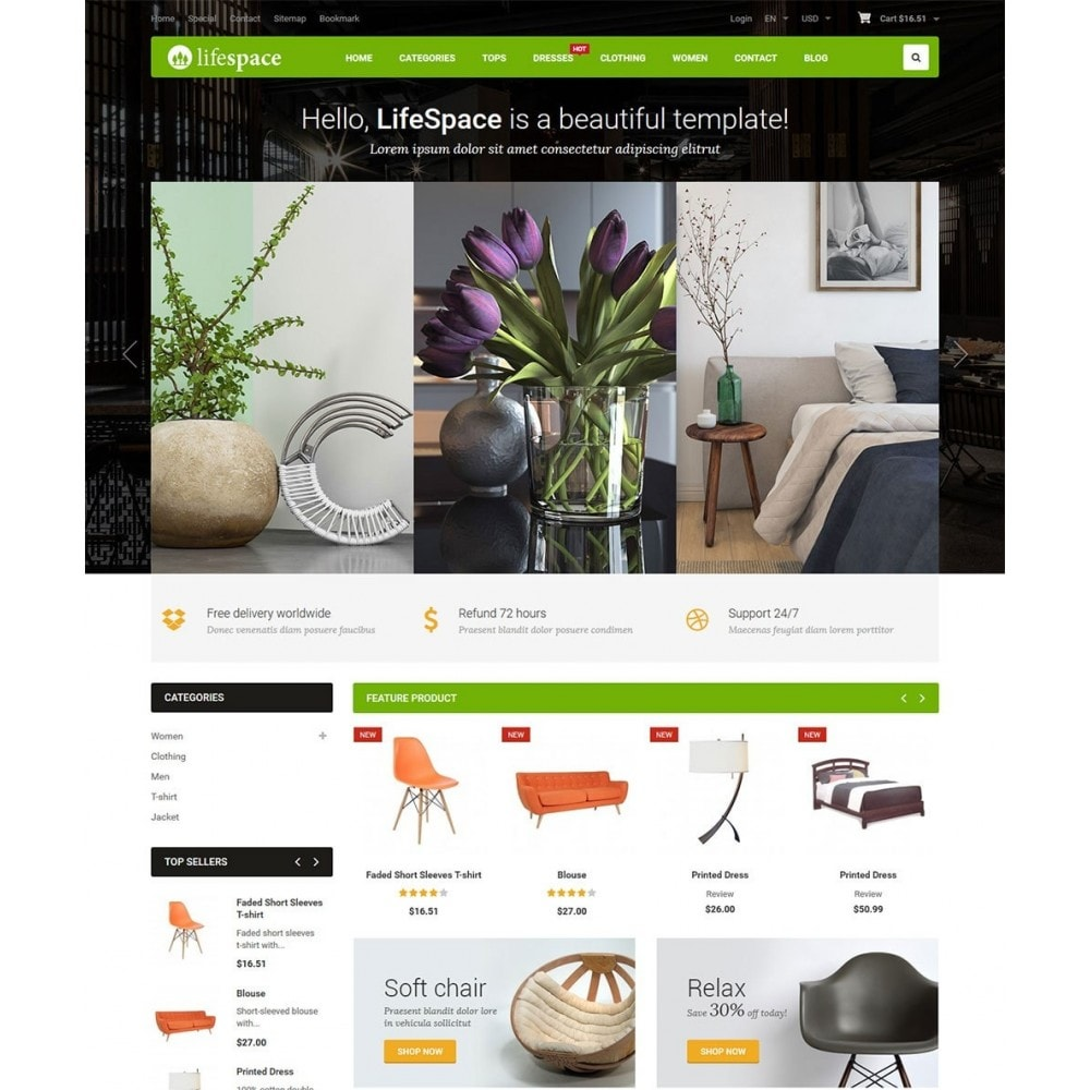 theme - Дом и сад - LifeSpace - Furniture Store Responsive PrestaShop - 2