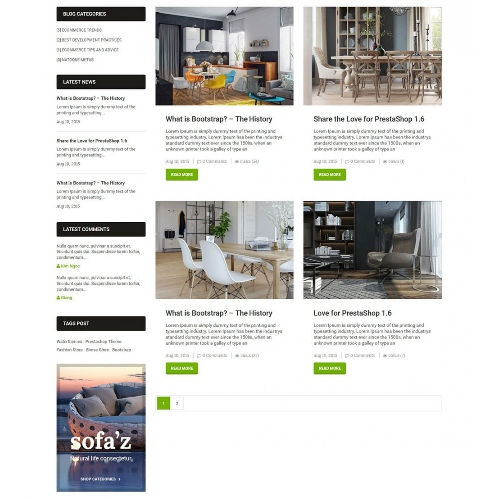 theme - Huis & Buitenleven - LifeSpace - Furniture Store Responsive PrestaShop - 6