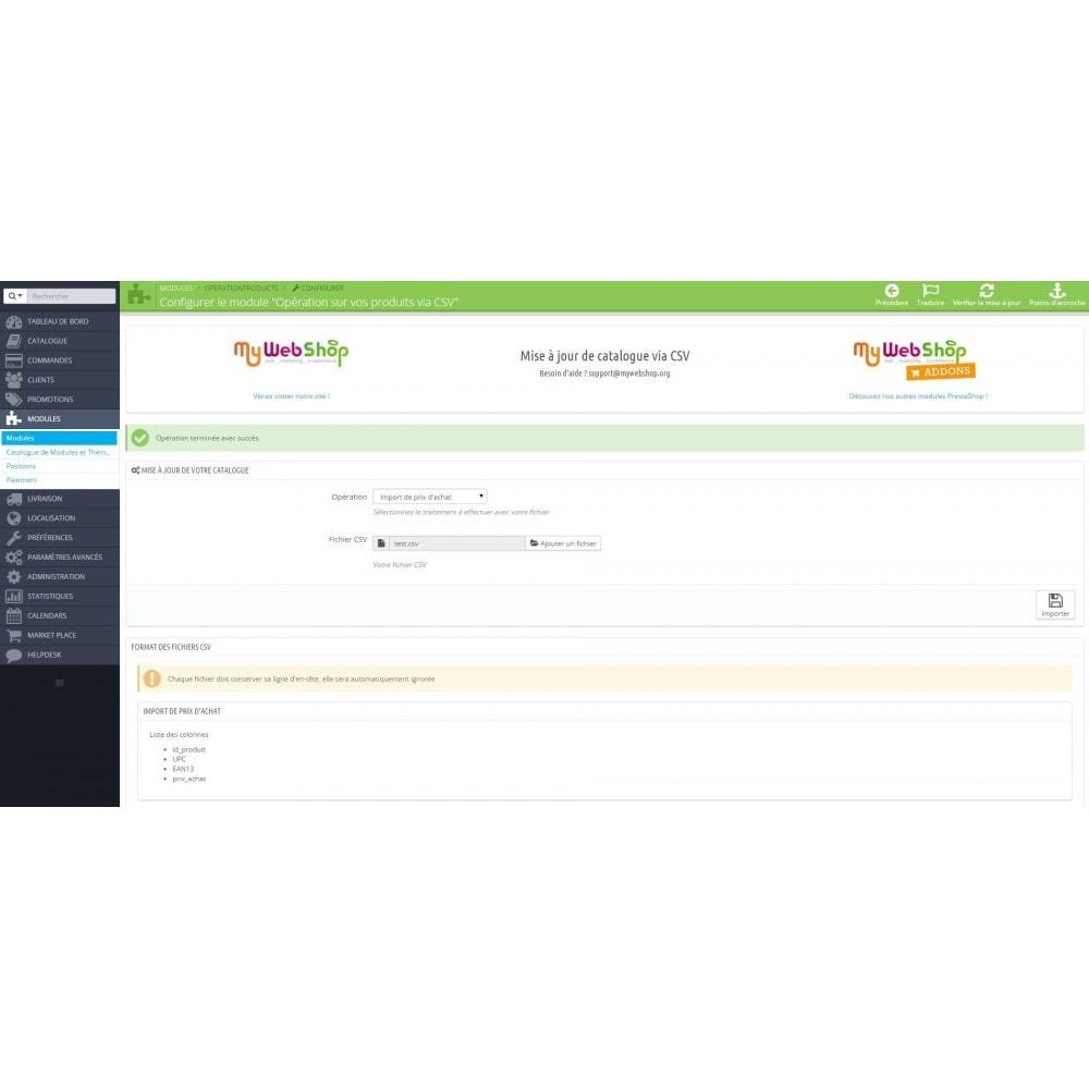 module - Import & Export de données - Opérations sur vos produits via CSV - 2