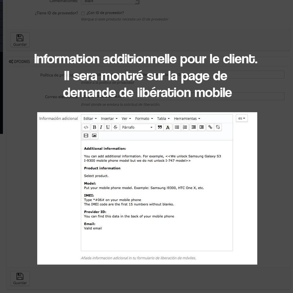 module - Formulaires de Contact & Sondages - Système de déblocage d'appareils mobiles - 6