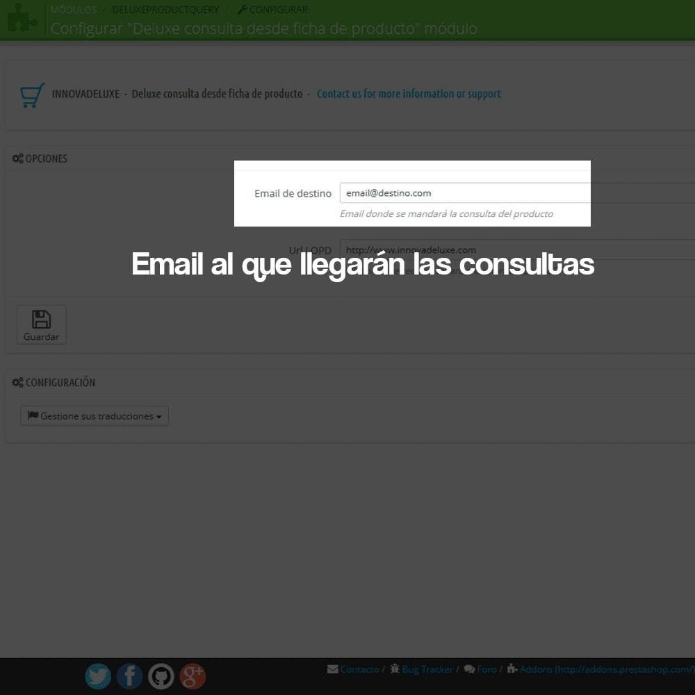 module - Marco Legal (Ley Europea) - Formulario de contacto desde Ficha de Producto - 2