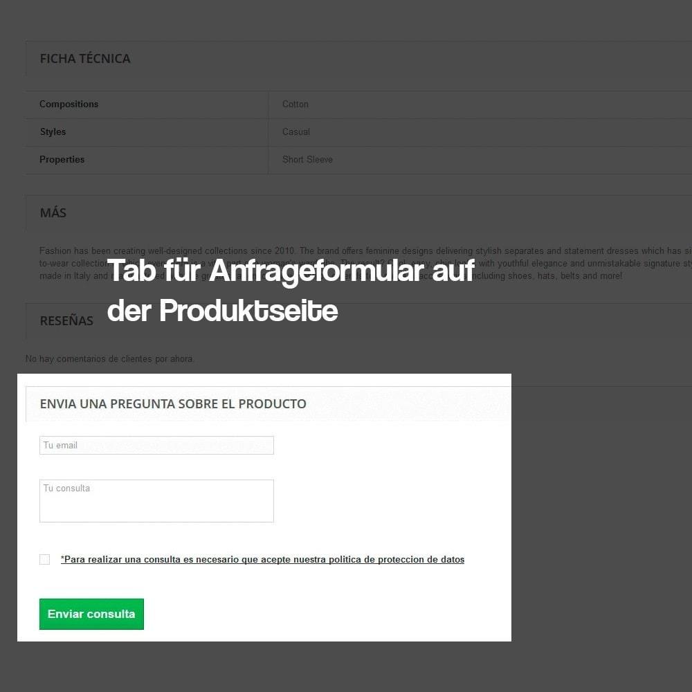 module - Rechtssicherheit - Anfragen ab der Produktseite (Datenschutzbestimmungen) - 4