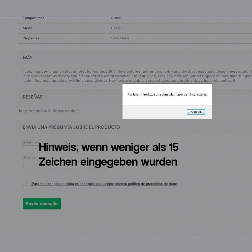 module - Rechtssicherheit - Anfragen ab der Produktseite (Datenschutzbestimmungen) - 6