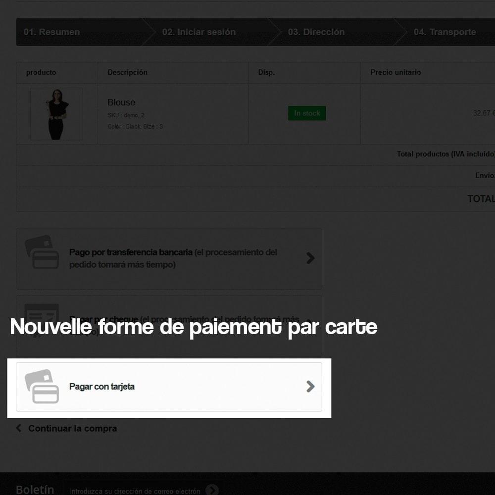 module - Paiement par Carte ou Wallet - Paiement par Carte via TPV virtuel (REDSYS SHA256) - 5