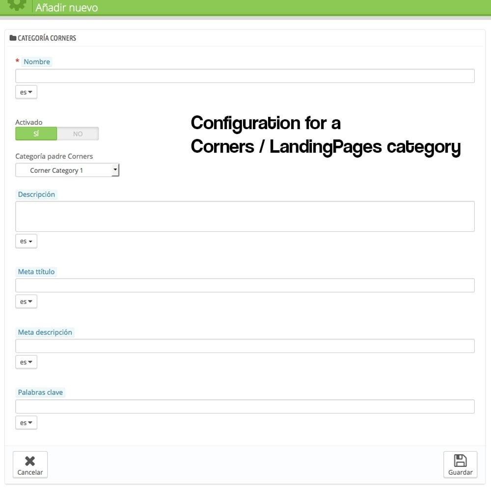 module - SEO - Landing pages, cornes or microsites creator - 3
