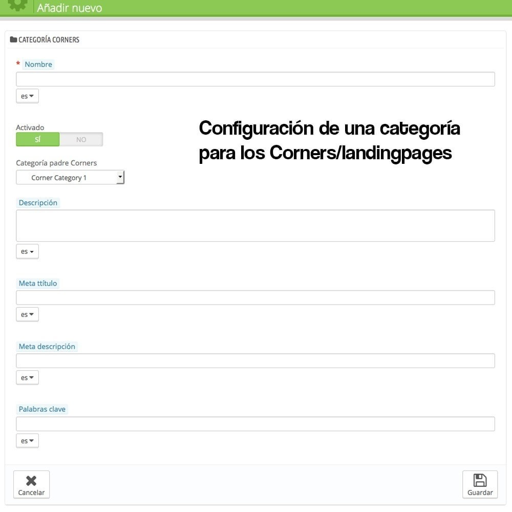module - SEO (Posicionamiento en buscadores) - Creador de landing pages, cornes o microsites - 3