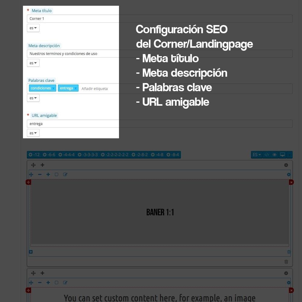 module - SEO (Posicionamiento en buscadores) - Creador de landing pages, cornes o microsites - 10