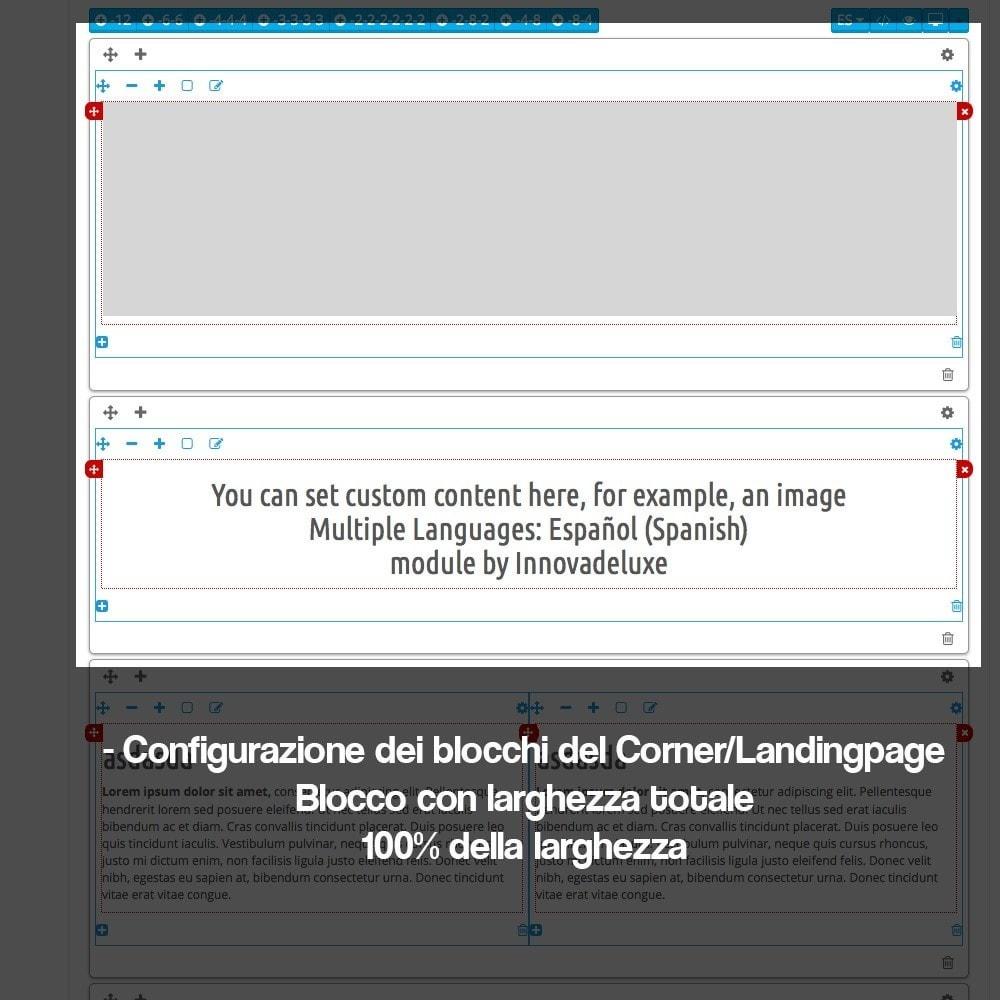 module - SEO (Indicizzazione naturale) - Creatore di landing page (corner) per marchi - 11