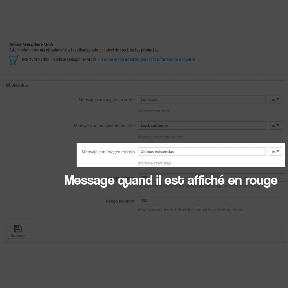 module - Information supplémentaire & Onglet produit - Indicateur de stock disponible sur fiche article - 6