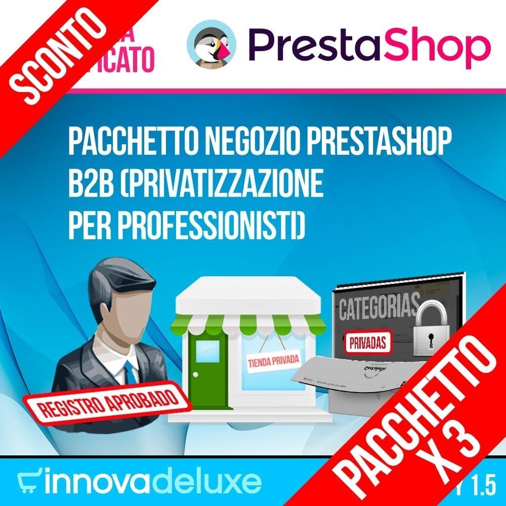 pack - B2B - Pack 1 - Negozio Prestashop B2B (privatizzazione) - 1