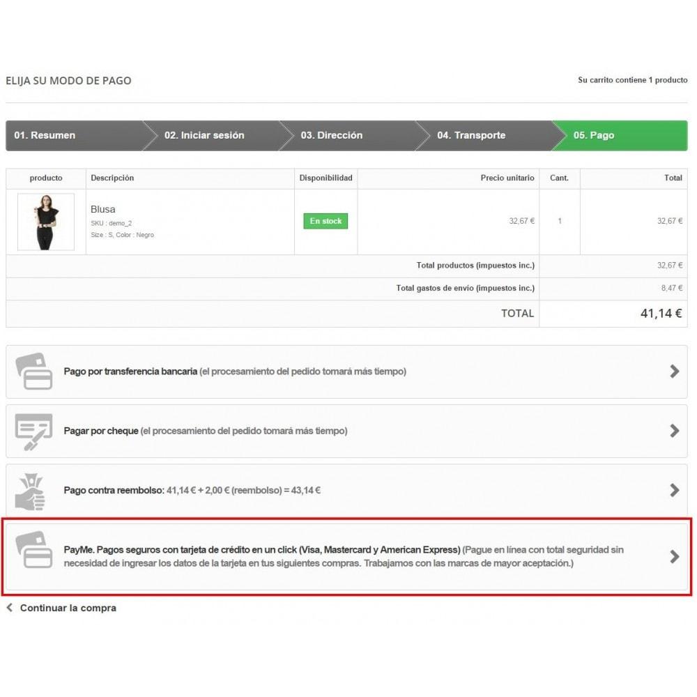 module - Pago con Tarjeta o Carteras digitales - Pago tarjeta de crédito Alignet PayMe pago en un click - 3
