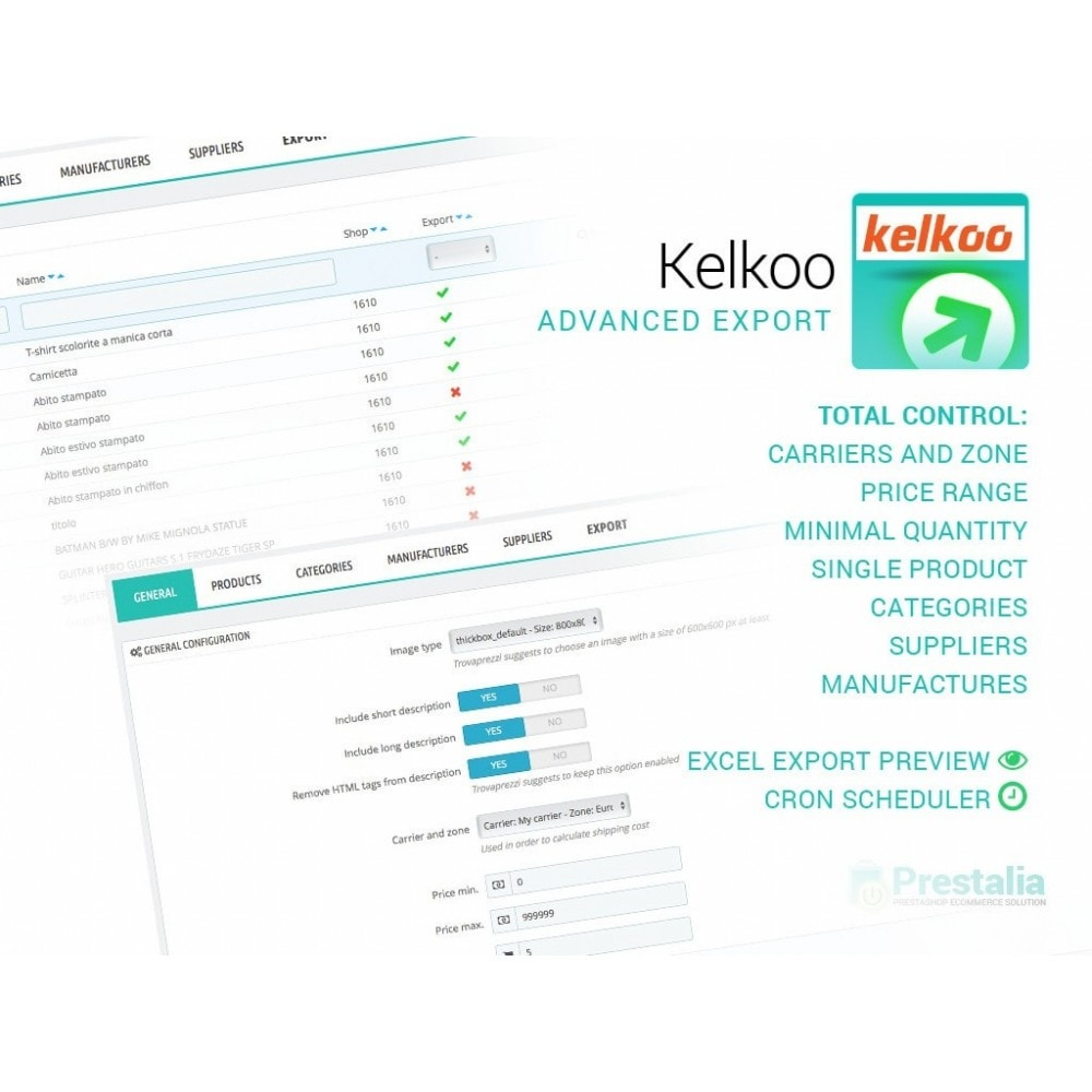 module - Comparadores de Precios - Kelkoo - Export + Advanced Filters - 1