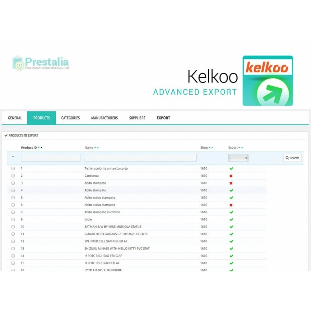 module - Comparateurs de prix - Kelkoo - Export + Advanced Filters - 3