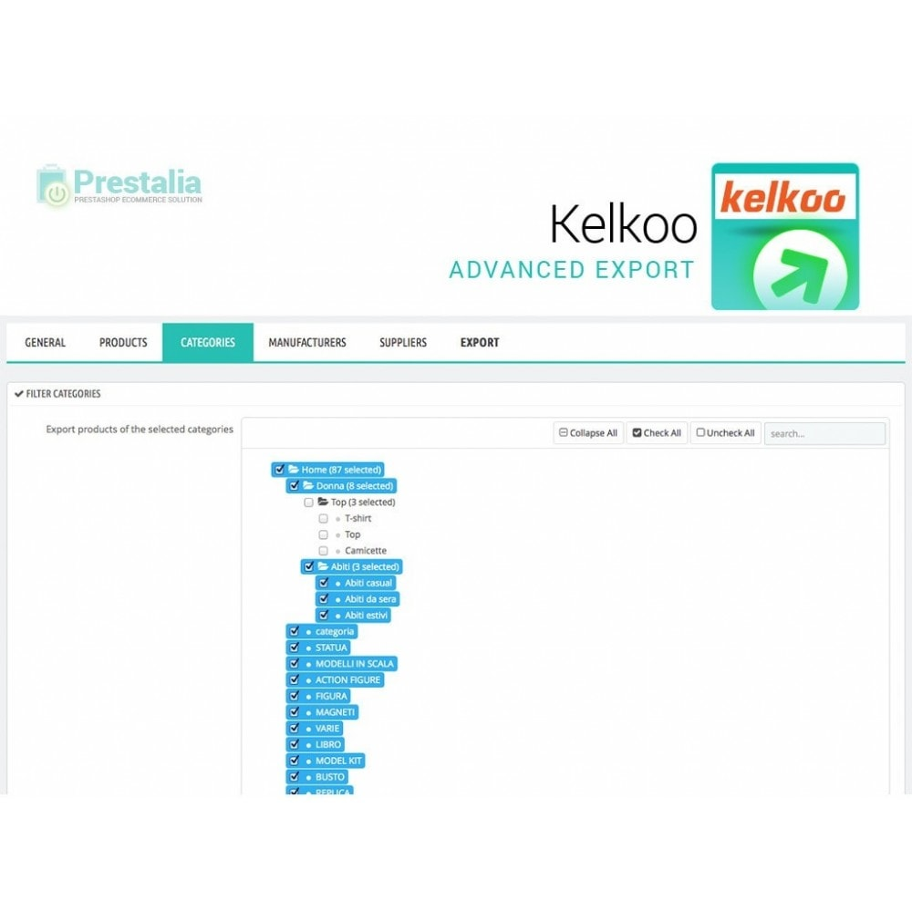 module - Comparateurs de prix - Kelkoo - Export + Advanced Filters - 4