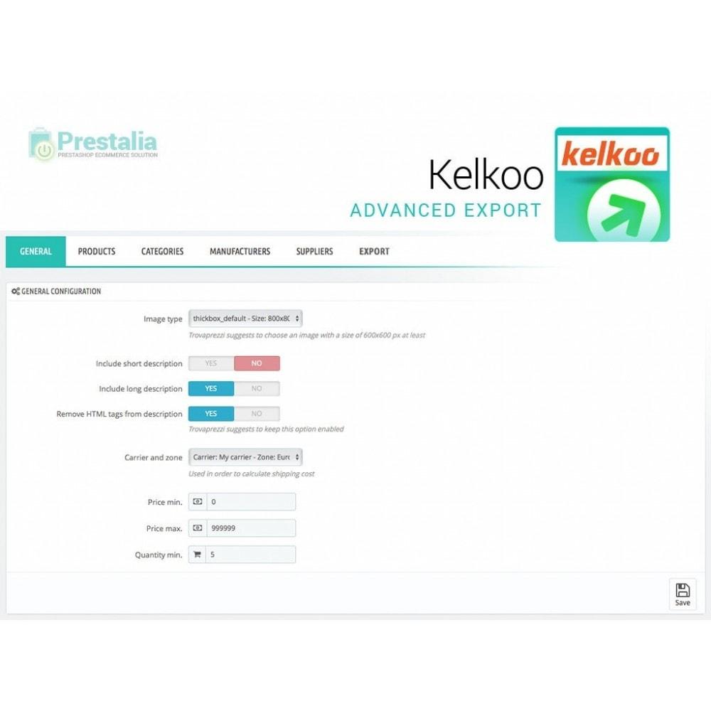 module - Comparatori di prezzi - Esporta per Kelkoo con filtri avanzati - 2