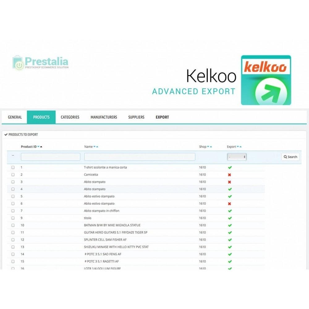 module - Comparatori di prezzi - Esporta per Kelkoo con filtri avanzati - 3