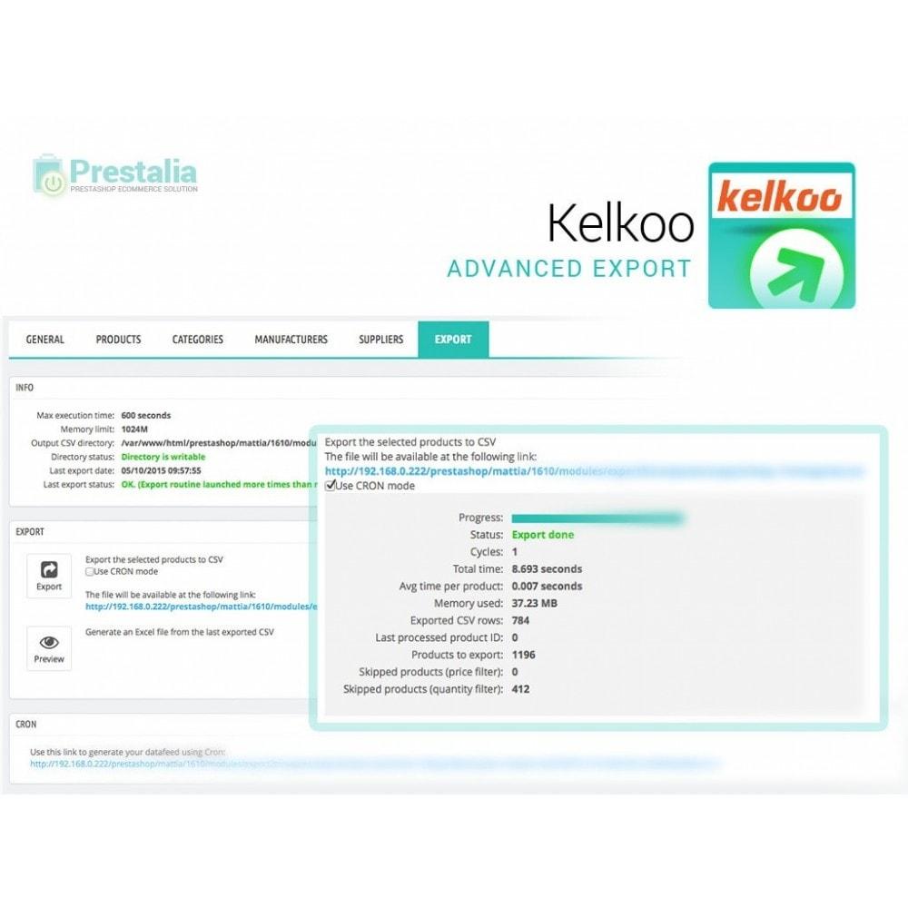 module - Comparatori di prezzi - Esporta per Kelkoo con filtri avanzati - 6