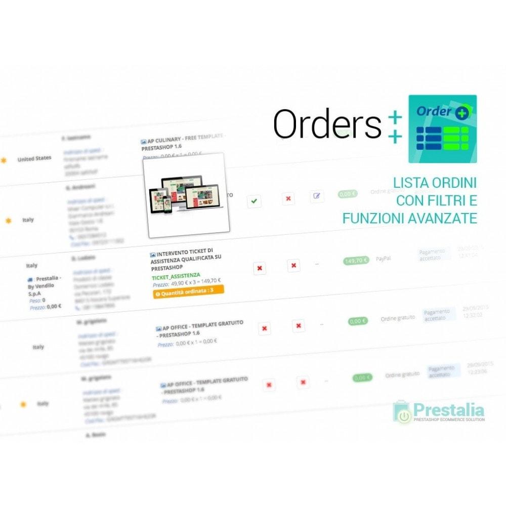 module - Gestione Ordini - Lista ordini avanzata con filtri e funzioni speciali - 1