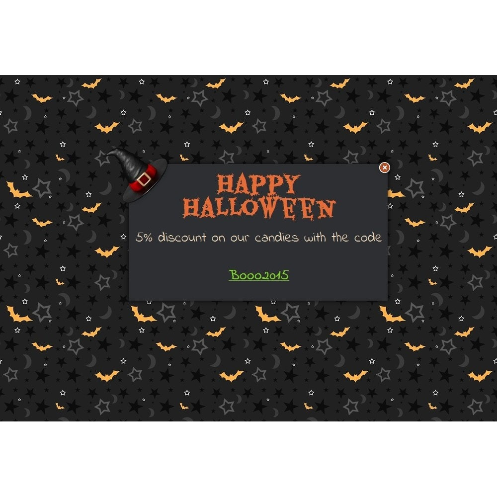 module - Dialoogvensters & Pop-ups - Halloween message - 1