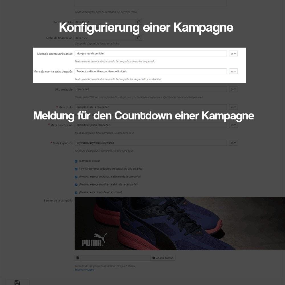 module - Promotion & Geschenke - Verwaltung von Kampagnen (Saisonale Vorschau, Looks) - 6