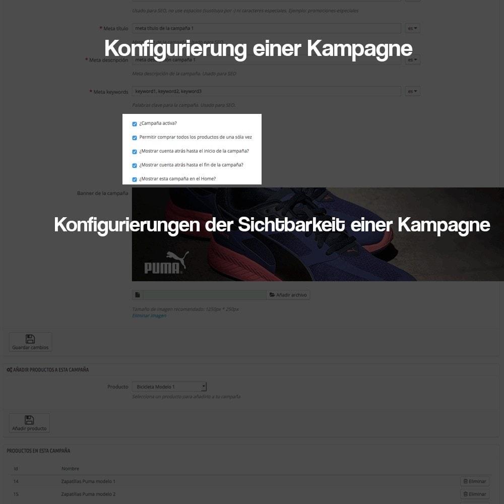 module - Promotion & Geschenke - Verwaltung von Kampagnen (Saisonale Vorschau, Looks) - 8