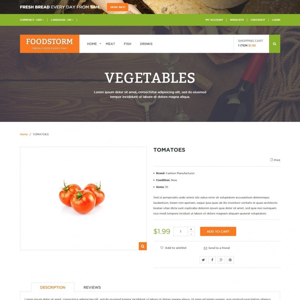 theme - Food & Restaurant - Food Store - 3