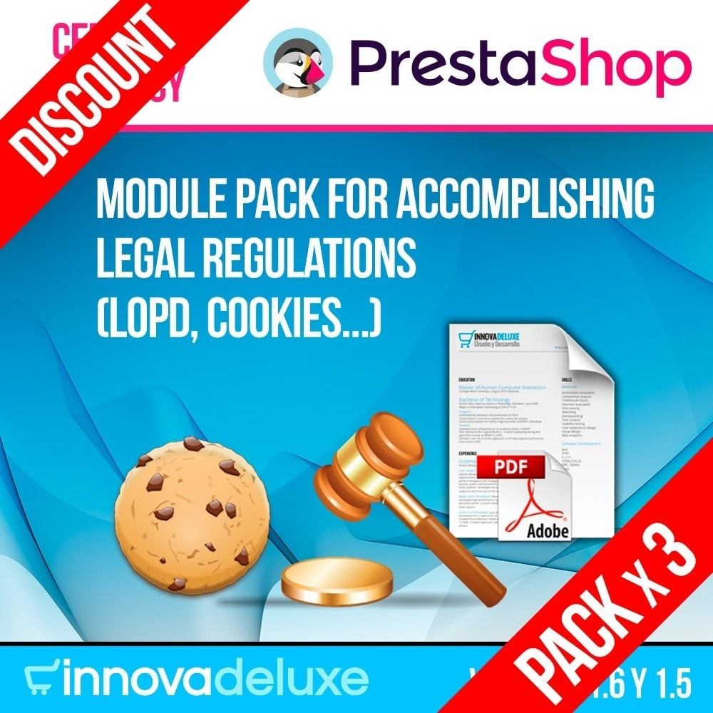pack - Wzmianki prawne - Pack 4 - Accomplishing legal regulations LOPD, cookies - 1