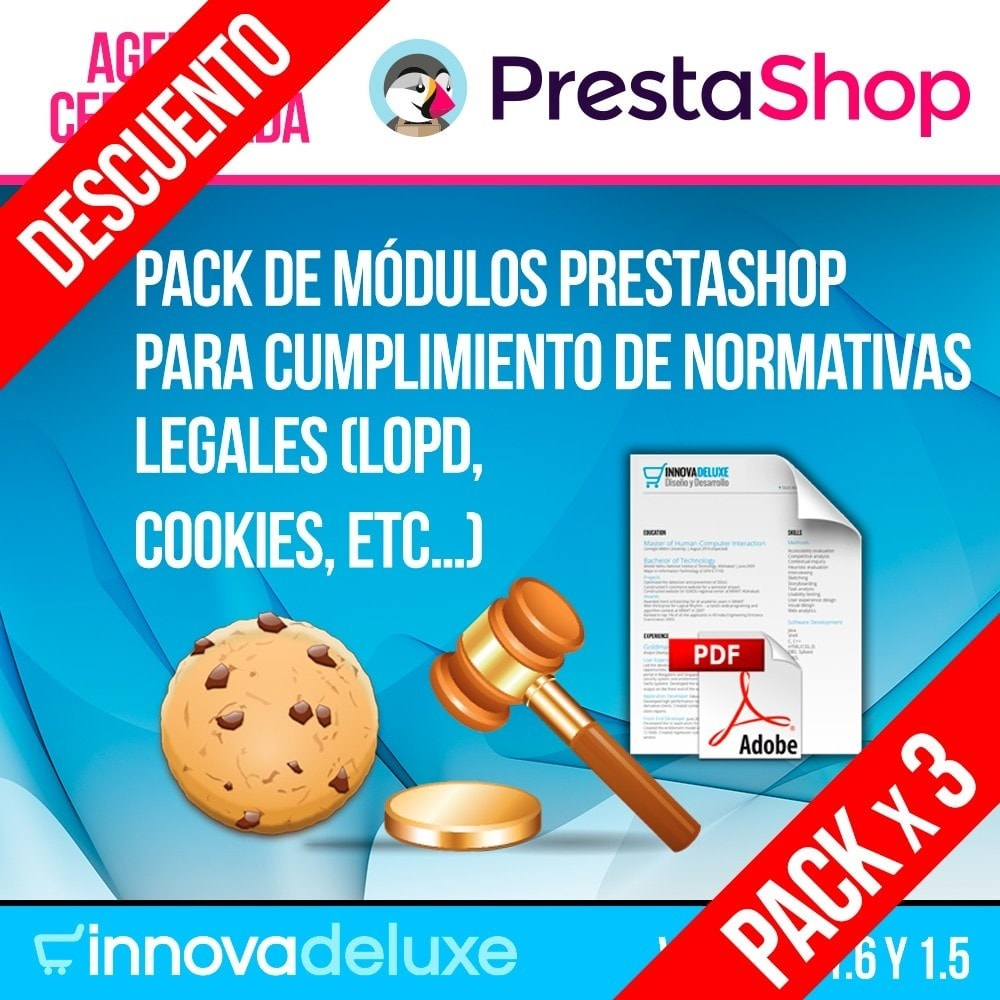 pack - Marco Legal (Ley Europea) - Pack 4 - Cumplimiento normativas legales LOPD, Cookies - 1