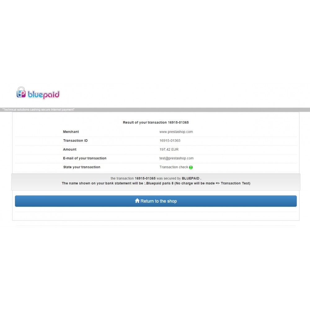 module - Payment by Card or Wallet (PayPal...) - Bluepaid - 5
