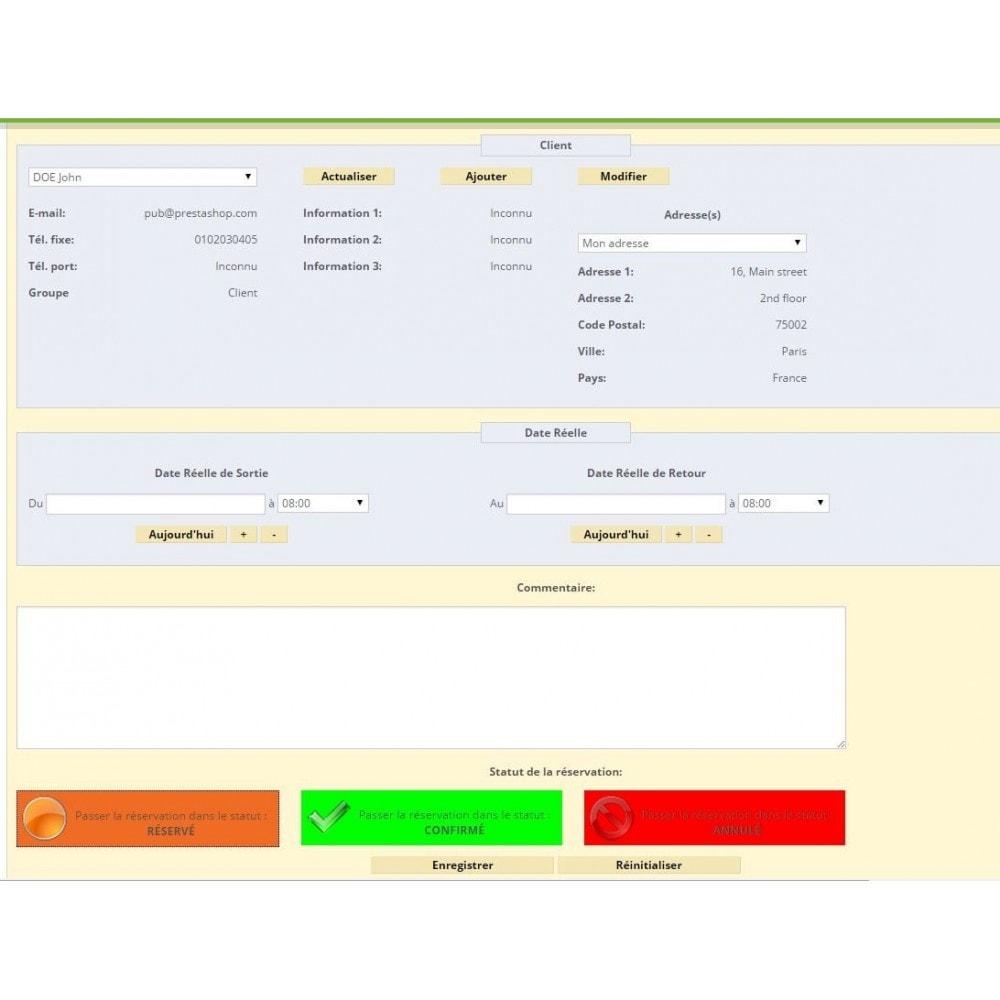 module - Location & Réservation - Location de produits ou services - 6