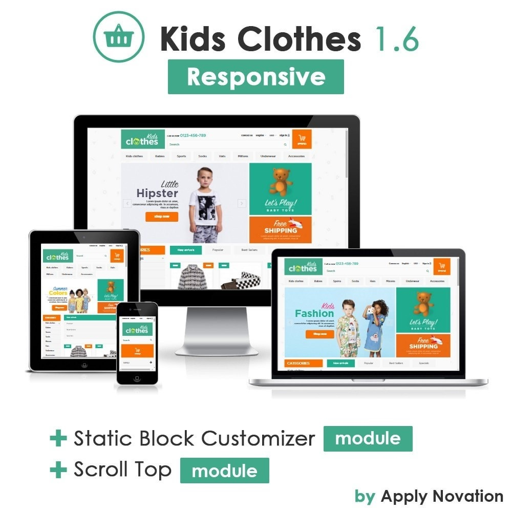 theme - Enfants & Jouets - Kids Clothes 1.6 Responsive - 1