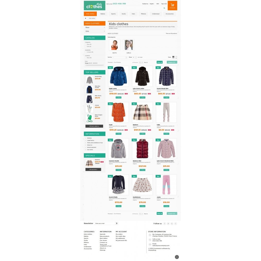theme - Kids & Toys - Kids Clothes 1.6 Responsive - 5