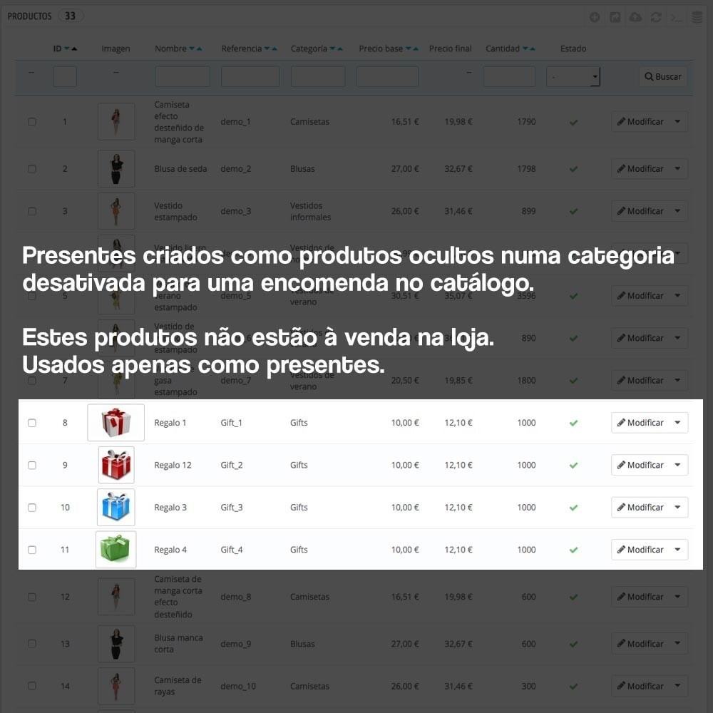 module - Promoções & Brindes - Gifts in shopping carts to increase order price - 9