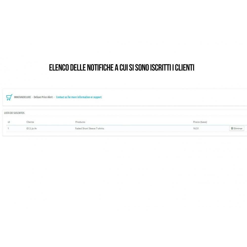 module - Email & Notifiche - Sottoscrizione di notifiche per riduzioni di prezzo - 4