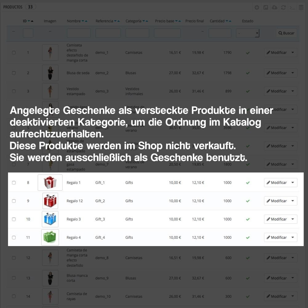 module - Promotion & Geschenke - Gifts in shopping carts to increase order price - 9