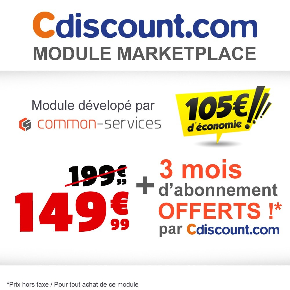 module - Places de marché (marketplaces) - Cdiscount Marketplace - 1