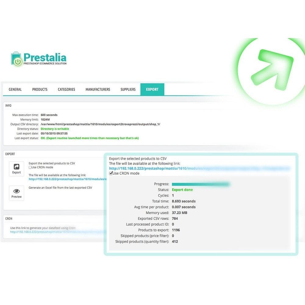 module - Import & Export de données - Exportation TrovaPrezzi avec filtres avancés - 1