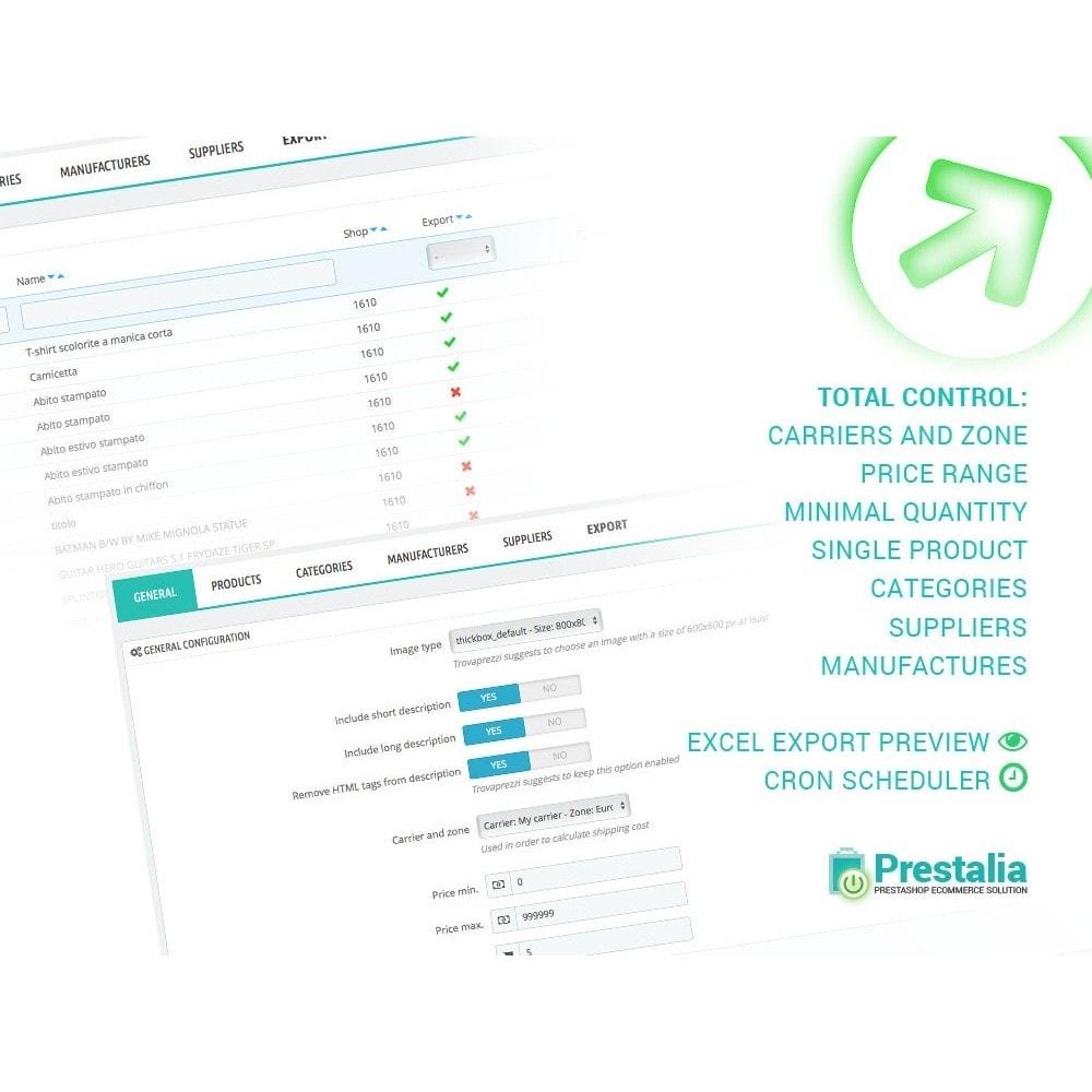 module - Importación y Exportación de datos - Exportación Trovaprezzi con filtros avanzados - 2