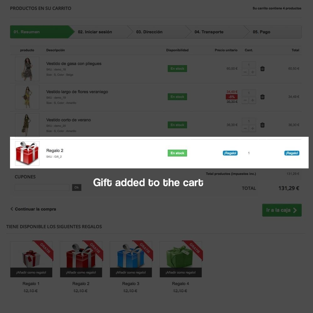 module - Promoties & Geschenken - Gifts in shopping carts to increase order price - 12
