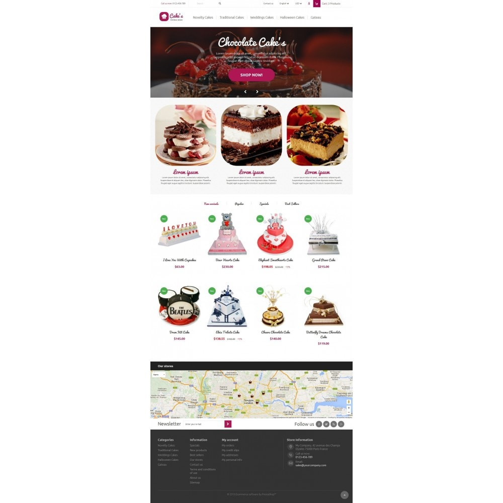 theme - Food & Restaurant - Cakes Online store - 2