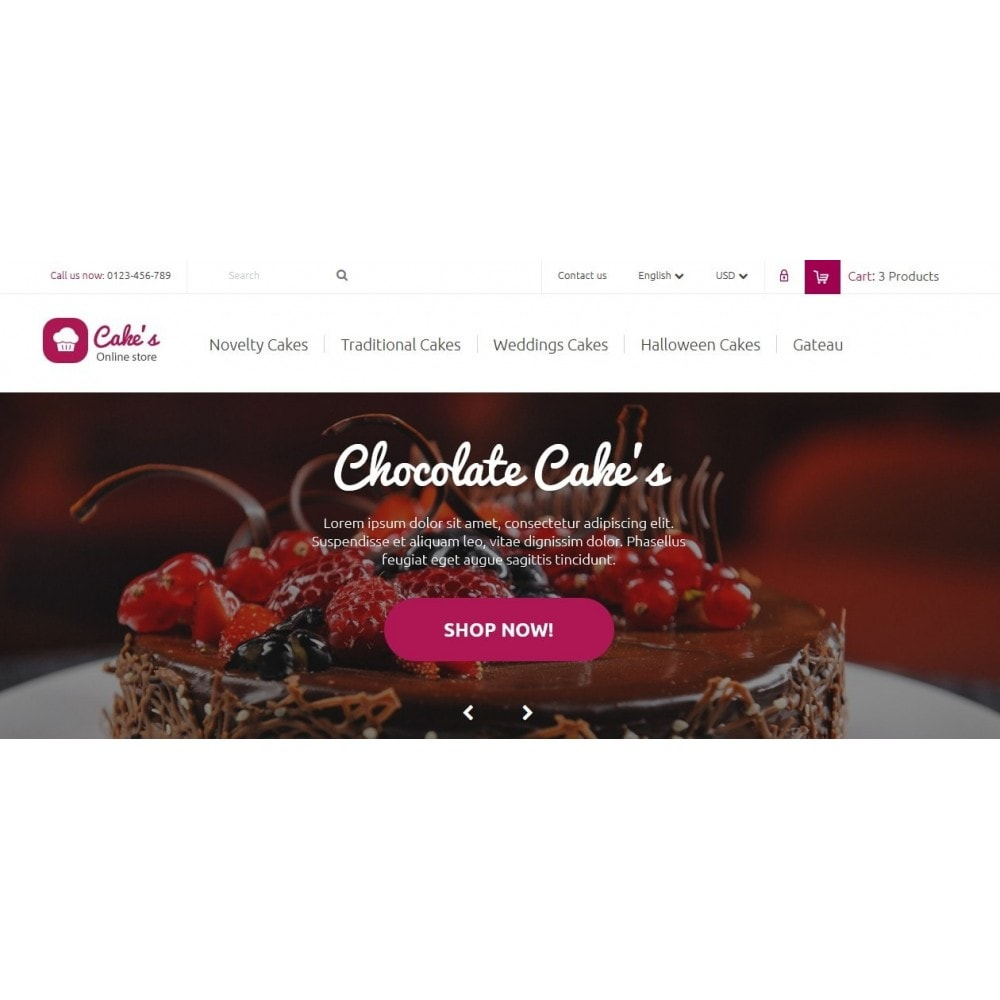 Cakes Online store