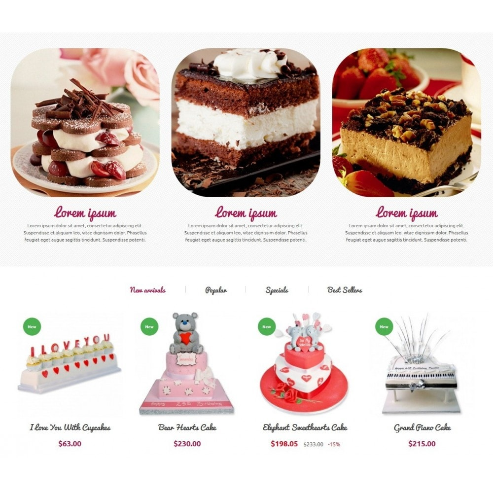theme - Alimentation & Restauration - Cakes Online store 1.6. Responsive - 4